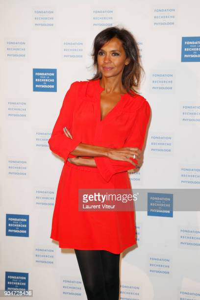 Presenter Karine Le Marchand attends ' Les Stethos D'Or 2018' Gala at Four Seasons Hotel George V on March 19 2018 in Paris France