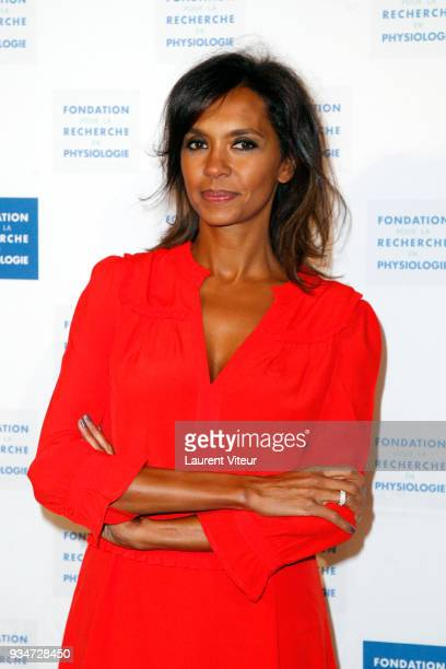 Presenter Karine Le Marchand attends Les Stethos D'Or 2018 Gala at Four Seasons Hotel George V on March 19 2018 in Paris France