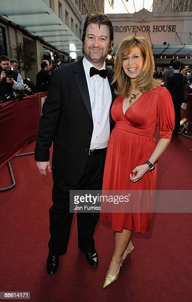 Presenter Kate Garraway and husband Derek Draper arrives at the Galaxy British Book Awards at Grosvenor House on April 3 2009 in London England