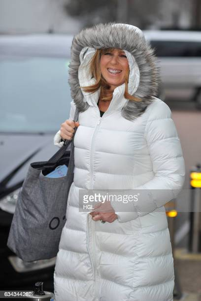 Presenter Kate Garraway seen leaving the ITV Studiossighting on February 9 2017 in London England