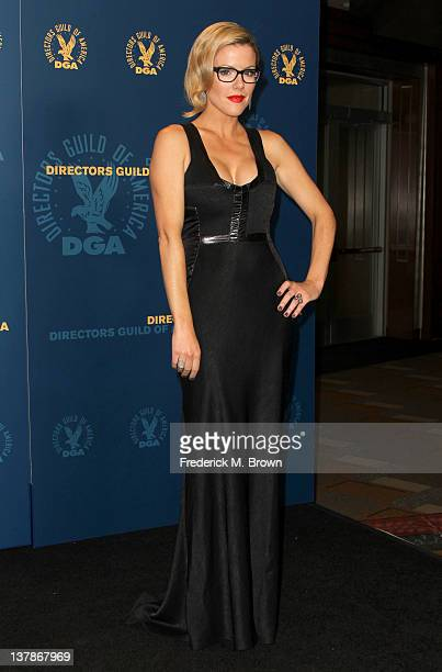 Presenter Kathleen Robertson poses in the press room at the 64th Annual Directors Guild Of America Awards held at the Grand Ballroom at Hollywood...
