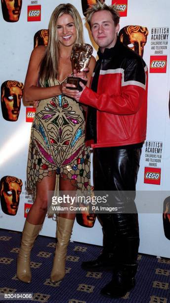 TV presenter Katy Hill and singer H from pop band Steps at the British Academy Children's Film and Television Awards in London's Park Lane