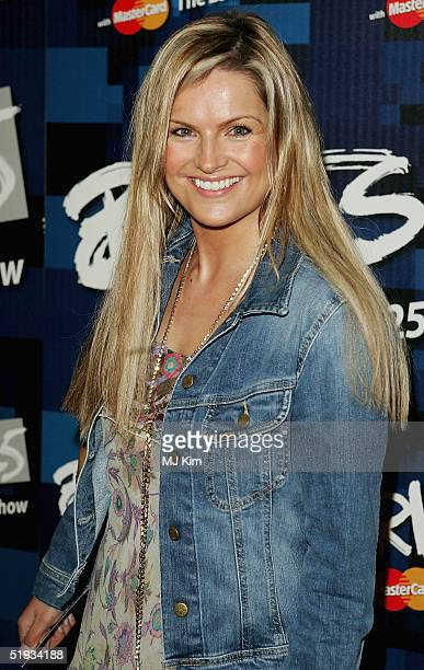 Presenter Katy Hill attends the Brit Awards 2005 Shortlist Announcement at the Park Lane Hotel on January 10 2005 in London The awards ceremony takes...