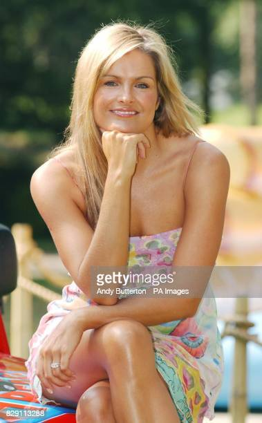 TV presenter Katy Hill during a photocall to launch the Nintendo Konga Beach party at London Zoo in Regents Park central London To celebrate the...