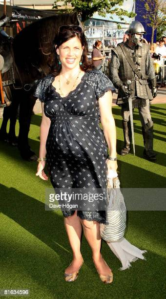TV presenter Kirstie Allsopp arrives at the UK premiere of 'The Chronicles of Narnia Prince Caspian' at the O2 Arena Greenwich on June 19 2008 in...