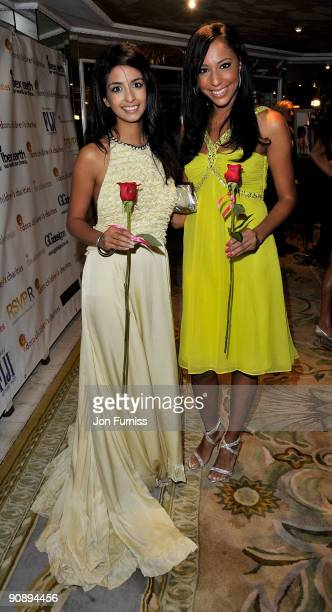 TV presenter Konnie Huq and singer Su Elise Nash attends the Ndoro Children's Charities fundraising gala at Dorchester Hotel on September 17 2009 in...