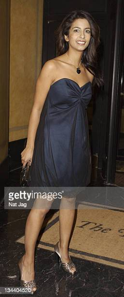 Presenter Konnie Huq arrives at the Chain of Hope Annual Ball held at the Dorchester Hotel on February 2008 in London United Kingdom