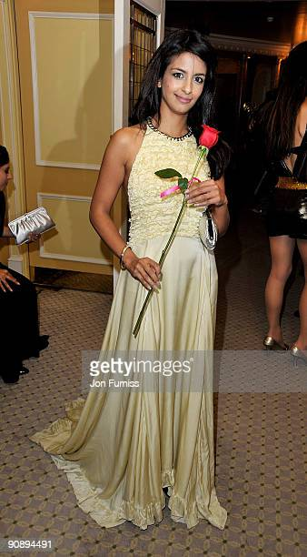 TV presenter Konnie Huq attends the Ndoro Children's Charities fundraising gala at Dorchester Hotel on September 17 2009 in London England