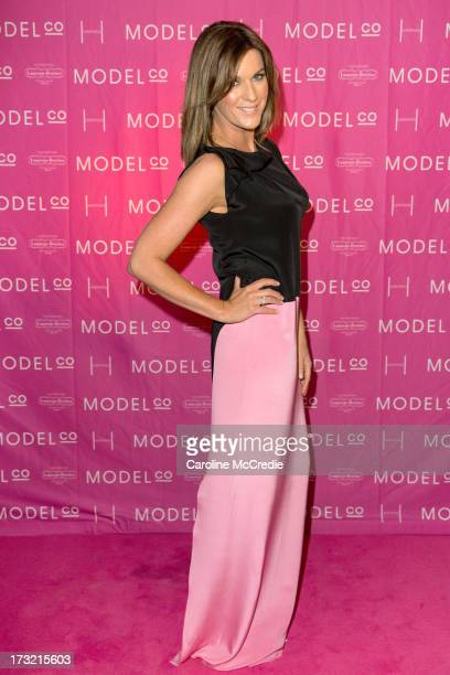 Presenter Kylie Gillies arrives at a black tie dinner hosted by ModelCo on Hayman Island in celebration of their new celebrity ambassador signing...