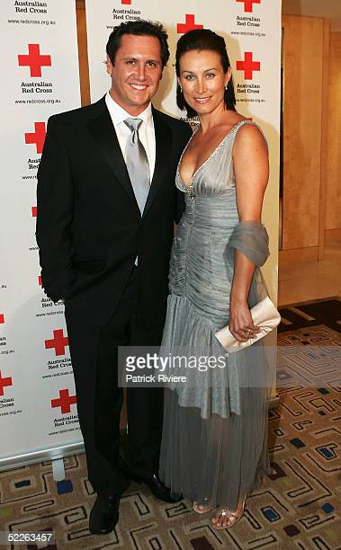TV presenter Larry Emdur and his wife attend the Australian Red Cross 90th Anniversary Gala at the Westin Hotel March 2 2005 in Sydney Australia