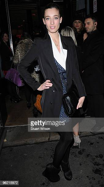 Presenter Laura Jackson arrives for the 'Best of British Talent' at Bar Music Hall Shoreditch on January 27 2010 in London England
