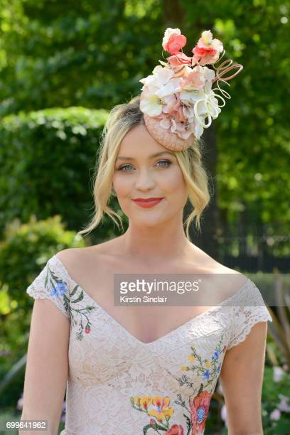 Presenter Laura Whitmore attends day 3 of Royal Ascot at Ascot Racecourse on June 22 2017 in Ascot England