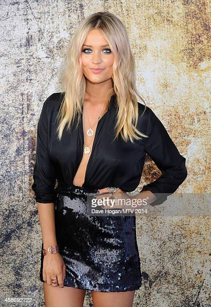 MTV Presenter Laura Whitmore attends the MTV EMA's 2014 at The Hydro on November 9 2014 in Glasgow Scotland