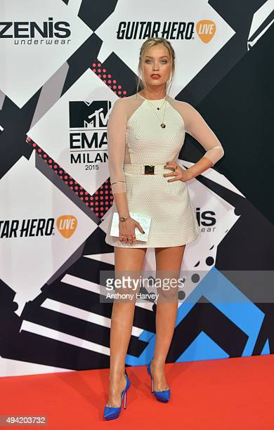 Presenter Laura Whitmore attends the MTV EMA's 2015 at the Mediolanum Forum on October 25 2015 in Milan Italy