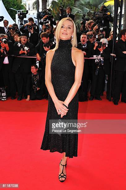 Presenter Laurence Ferrari arrives at the 'Che' Premiere at the Palais des Festivals during the 61st International Cannes Film Festival on May 21,...