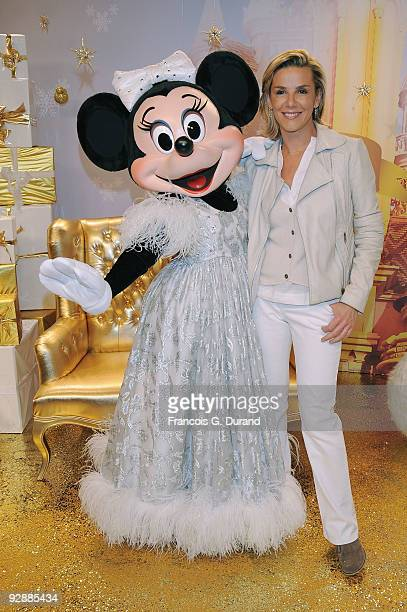 TV presenter Laurence Ferrari attends the Disneyland Magic Christmas Season Launch at Disneyland Resort Paris on November 7 2009 in Paris France