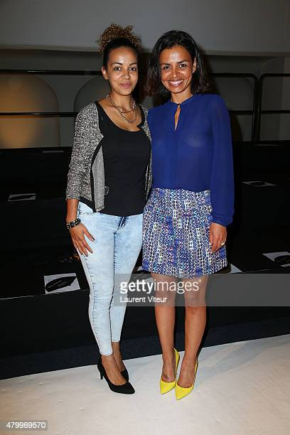 TV presenter Laurence Roustandjee and her sister Audrey Roustandjeee attend the Danny Atrache show as part of Paris Fashion Week Haute Couture...