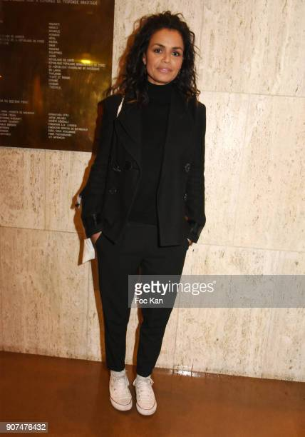 TV presenter Laurence Roustandjee attends 'Jane' National Geographic Documentary on Jane Goodall Premiere at UNESCO on January 19 2018 in Paris France