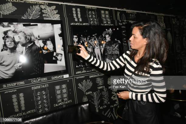 TV presenter Laurence Roustandjee attends 'Rock Stage' Pierre Terrasson Photo Exhibition Hosted by Galerie La Cle at Le Montana on November 29 2018...