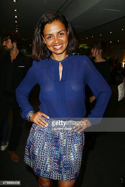 TV presenter Laurence Roustandjee attends the Danny Atrache show as part of Paris Fashion Week Haute Couture Fall/Winter 2015/2016 on July 8 2015 in...