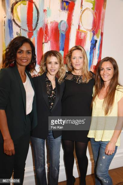 R TV presenter Laurence Roustandjee Tristane Banon painter Caroline Faindt and actress Emmanuelle Boidron attend the 'Love EtcÉ' Caroline Faindt...