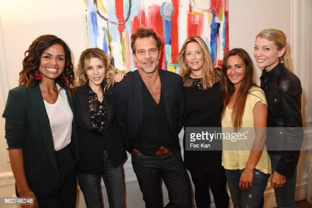R TV presenter Laurence Roustandjee Tristane Banon TV presnter Ronald Guintrange painter Caroline Faindt actress Emmanuelle Boidron and pastry Chef...