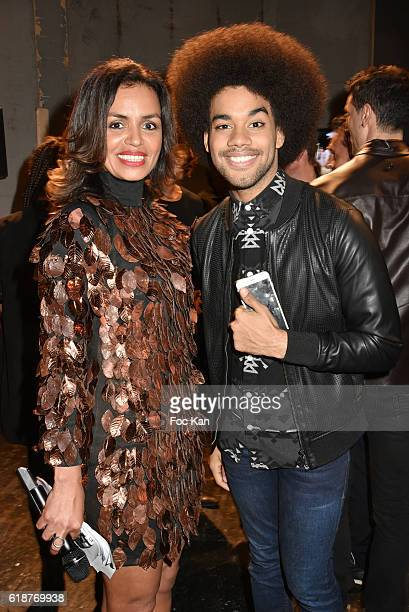 TV presenter Laurence RoustandjeeÊand Singer Gwendal Marimoutou attend the Chocolate fashion show as a part of the Salon Du Chocolat 2016 Chocolate...