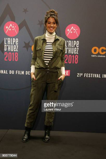 TV Presenter Laurie Cholewa attends Opening Ceremony during the 21st L'Alpe D'Huez Comedy Film Festival on January 16 2018 in Alpe d'Huez France