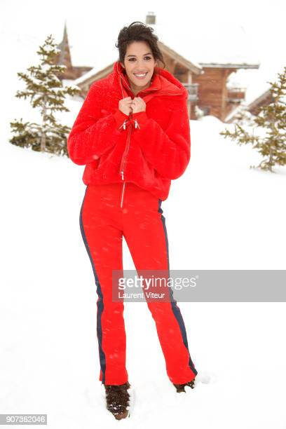 TV Presenter Laurie Cholewa attends the 21st Alpe D'Huez Comedy Film Festival on January 19 2018 in Alpe d'Huez France