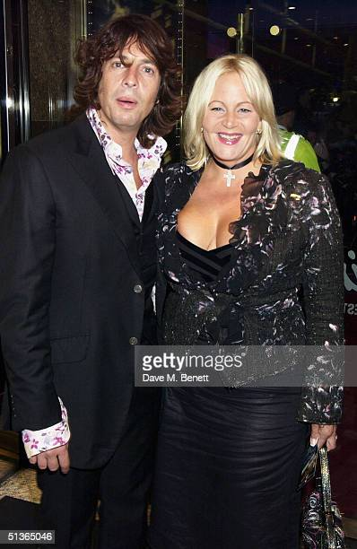TV presenter Lawrence Llewellyn Bowen and his wife Jackie attend the UK Premiere of Sky Captain The World Of Tomorrow at the Empire Leicester Square...