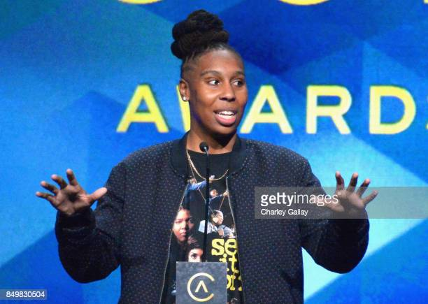 Presenter Lena Waithe speaks onstage during the 11th Annual ADCOLOR Awards at Loews Hollywood Hotel on September 19, 2017 in Hollywood, California.