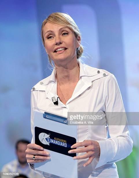 TV presenter Licia Colo attends Alle Falde Del Kilimangiaro Italian TV Show at the RAI Studios on February 13 2011 in Rome Italy