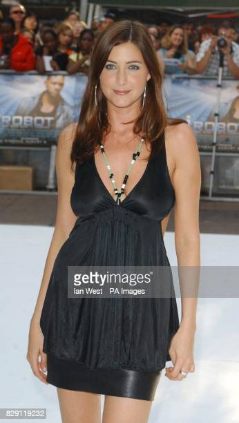 TV presenter Lisa Snowdon arrives for the UK premiere of I Robot at the Odeon Leicester Square in central London