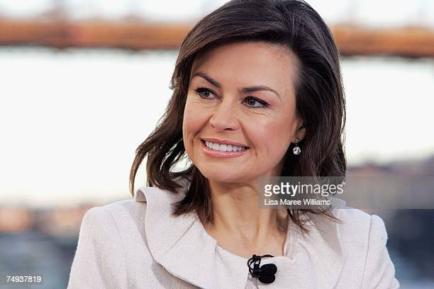 Presenter Lisa Wilkinson live onair as part of the Today Show 25th birthday celebrations outside the Sydney Opera House on June 28 2007 in Sydney...