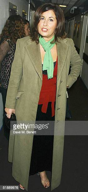 TV presenter Liza Tarbucks arrive at the British Comedy Awards 2004 at London Television Studios on December 22 2004 in London Jonathan Ross hosted...
