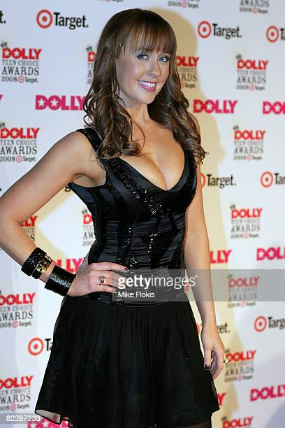 Presenter Lizzy Lovette arrives for the third annual Dolly Teen Choice Awards at Luna Park on August 13 2008 in Sydney Australia