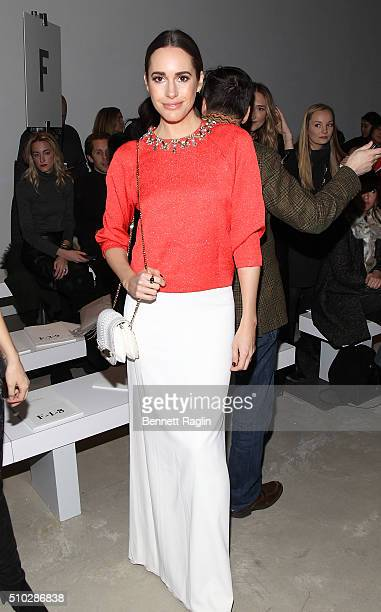 Presenter Louise Roe attends Jenny Packham Fall 2016 New York Fashion Week at The Gallery Skylight at Clarkson Sq on February 14 2016 in New York City