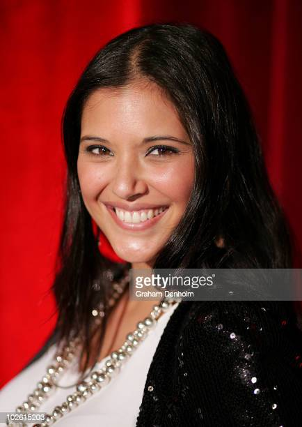 Presenter Lyndsey Rodrigues arrives for the opening night of West Side Story at Star City on July 4 2010 in Sydney Australia