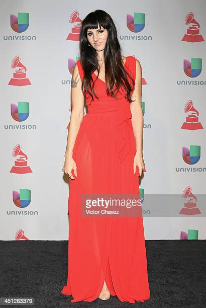 Presenter Mala Rodriguez poses in the press room during The 14th Annual Latin GRAMMY Awards at the Mandalay Bay Events Center on November 21, 2013 in...
