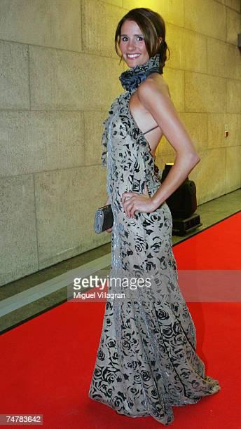 TV presenter Mareile HoeppnerSchoenfeld attends the German Entrepreneur Award ceremony on June 19 2007 in Berlin Germany