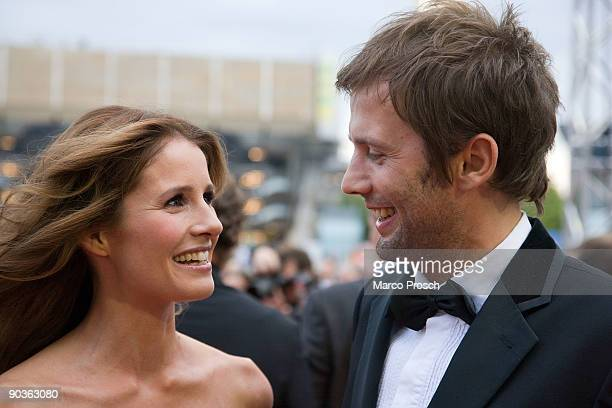 TV presenter Mareille Hoeppner and Arne Schoenfeld arrive at the 15th Opera Ball Leipzig on September 5 2009 in Leipzig Germany