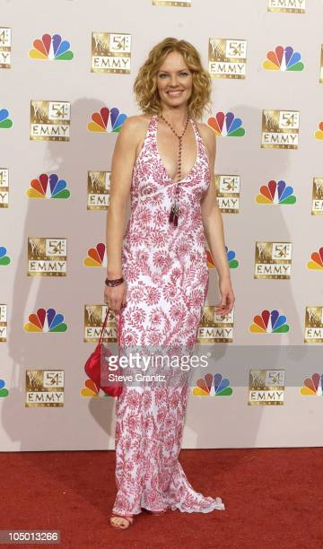 Presenter Marg Helgenberger at the 54th Annual Emmy Awards