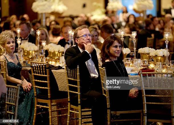 Presenter Margaret Alkek Williams Neil Bush and Maria Bush at the UNICEF Audrey Hepburn Society Ball honoring former first lady Barbara Bush at the...