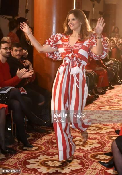 TV presenter Margaux de Frouville attends the 3rd Sauvez Le Coeur Des Femmes Red Defile show at Hotel Marriot on November 15 2019 in Paris France