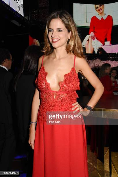 TV presenter Margaux De Frouville attends the 'Red Defile' Auction Fashion Show Hosted by Ajila Association Association Against Women Heart Disease...