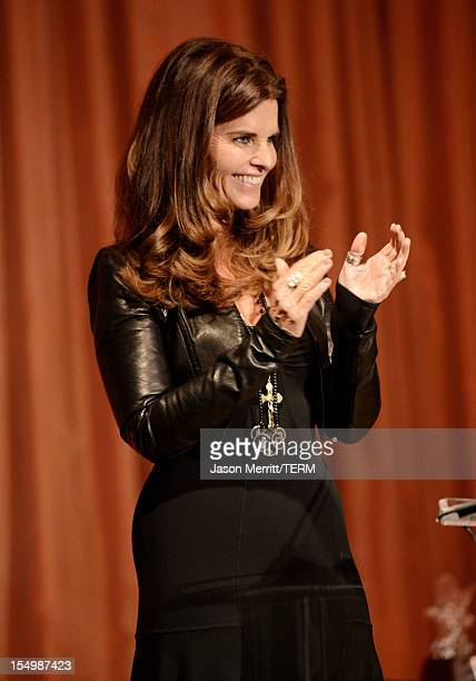 Presenter Maria Shriver speaks onstage at the 2012 Courage in Journalism Awards hosted by the International Women's Media Foundation held at the...