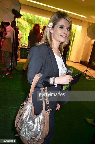 TV presenter Marie Inbona attends the Escada Cocktail Event at Escada Store Montaigne on May 2 2011 in Paris France