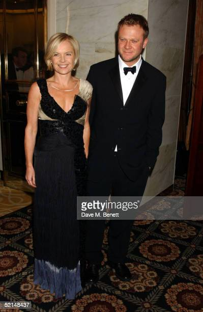 TV presenter Mariella Frostrup and husband Jason McCue attends the PreReception ahead of the annual Evening Standard Film Awards 2005 at The Savoy on...