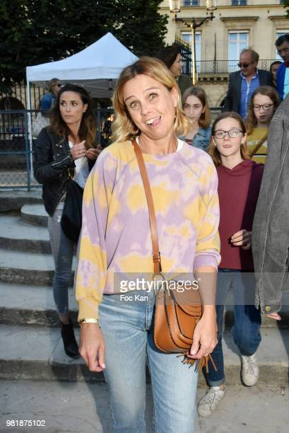 TV presenter Marine Vignes attends Fete des Tuileries on June 22 2018 in Paris France