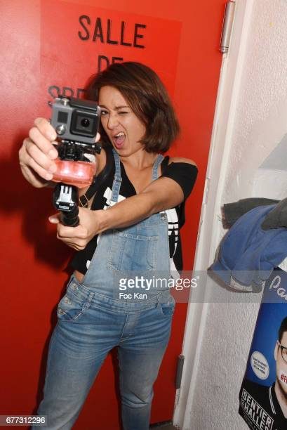"""Presenter Marion Broodthuis from Melody TV attends """"Attachiante"""" Chanez Concert and Birthday Party at Sentier des Halles Club on May 2, 2017 in..."""